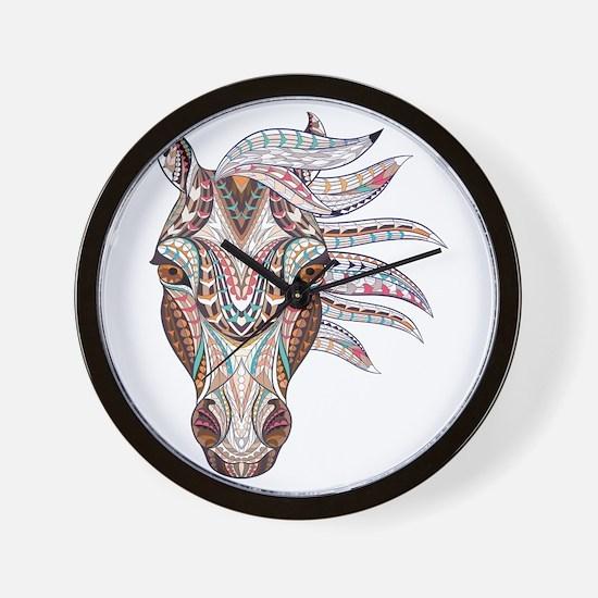 Colorful Horse Head Wall Clock