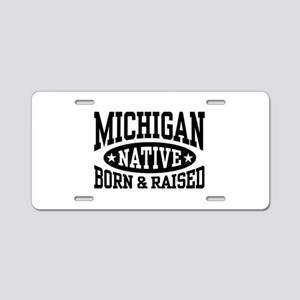 Michigan Native Aluminum License Plate
