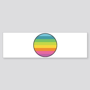 Rainbow Circle Bumper Sticker
