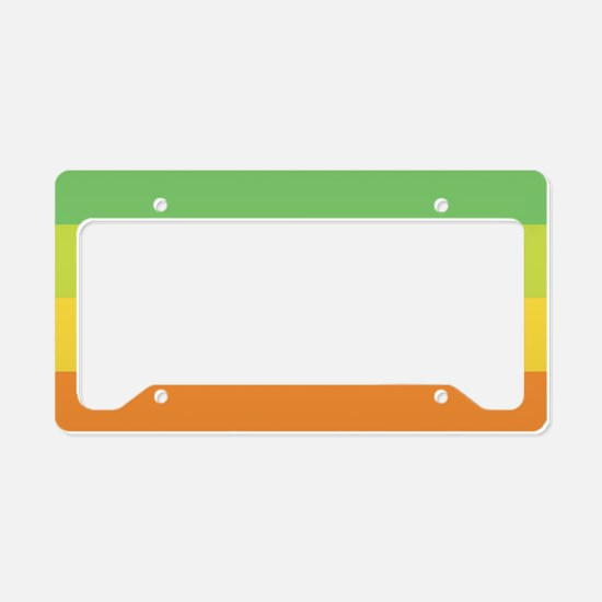 Rainbow Circle License Plate Holder