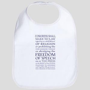 Freedom of Speech First Amendment Baby Bib