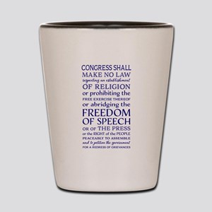 Freedom of Speech First Amendment Shot Glass