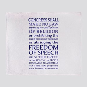 Freedom of Speech First Amendment Throw Blanket