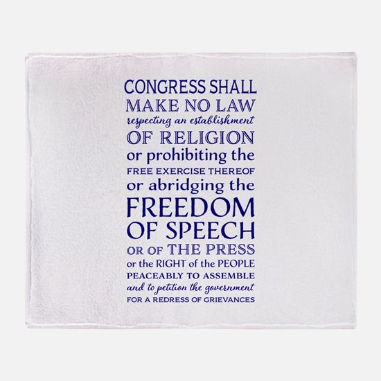 Freedom of Speech First Amendment Throw Blanket