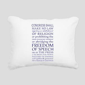 Freedom of Speech First Rectangular Canvas Pillow