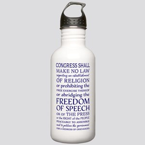 Freedom of Speech Firs Stainless Water Bottle 1.0L