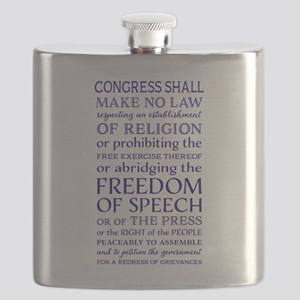 Freedom of Speech First Amendment Flask