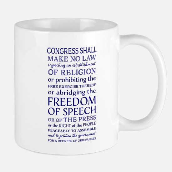 Freedom of Speech First Amendment Mugs