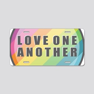 Love One Another Rainbow Aluminum License Plate