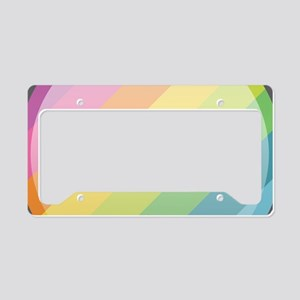 Love One Another Rainbow License Plate Holder