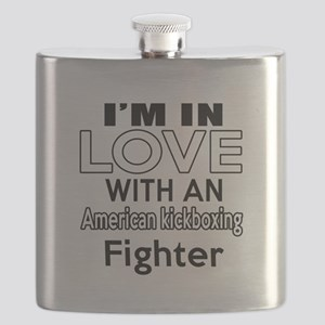 I Am In Love With American kickboxing Fighte Flask