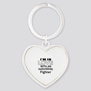 I Am In Love With American kickboxi Heart Keychain