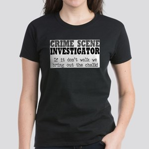 CSI Chalk Lines Ash Grey T-Shirt