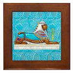 Egyptian Sphinx Framed Tile