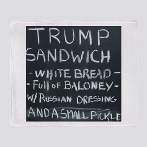 Trump Sandwich Throw Blanket