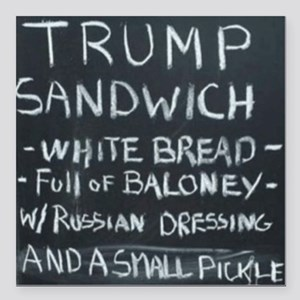 "Trump Sandwich Square Car Magnet 3"" x 3"""