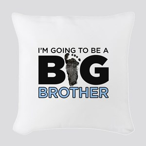 Im Going To Be A Big Brother Woven Throw Pillow