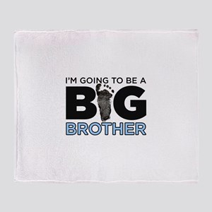 Im Going To Be A Big Brother Throw Blanket