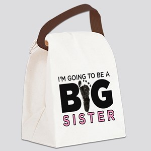 Im Going To Be A Big Sister Canvas Lunch Bag