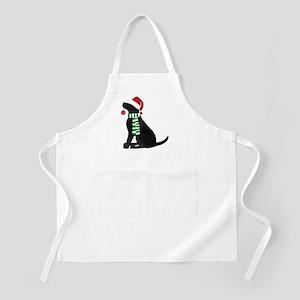 Christmas Black Lab Holiday Dog Apron