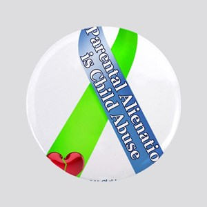 Parental Alienation Awareness Ribbon -White Button