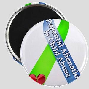Parental Alienation Awareness Ribbon -White Magnet