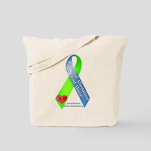 Parental Alienation Awareness Ribbon -White Tote B