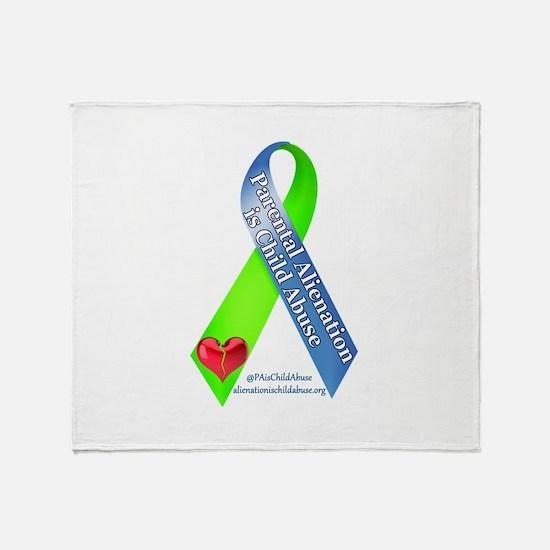 Parental Alienation Awareness Ribbon -White Throw