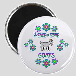 Peace Love Goats Magnet