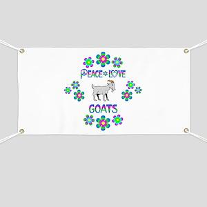 Peace Love Goats Banner