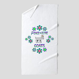 Peace Love Goats Beach Towel