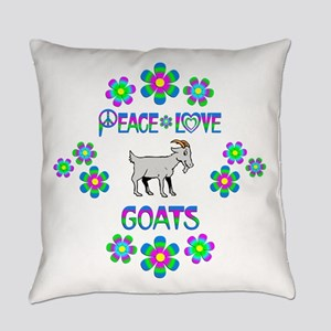 Peace Love Goats Everyday Pillow
