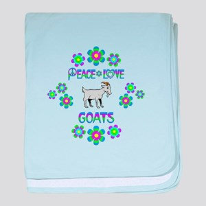 Peace Love Goats baby blanket