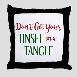 TINSEL in a TANGLE Throw Pillow