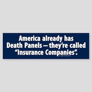 Insurance Company Death Panel Bumper Sticker