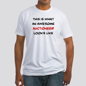 awesome auctioneer Fitted T-Shirt