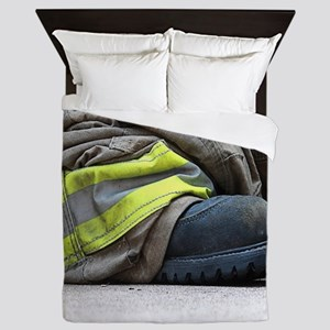 Fire Fighter Queen Duvet