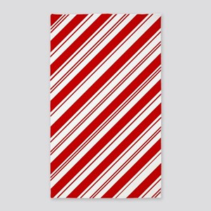 red christmas candy cane Area Rug