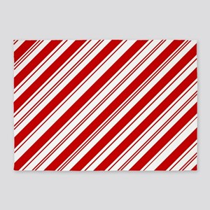 red christmas candy cane 5'x7'Area Rug