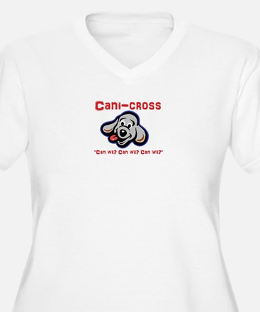 Cani-cross - Can we? Dog sport d Plus Size T-Shirt