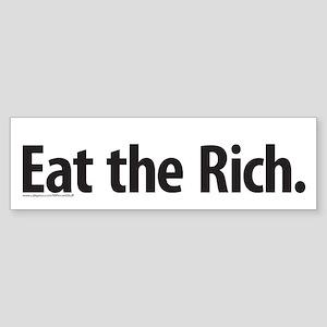Eat the Rich! Sticker (Bumper)
