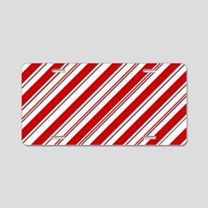 red christmas candy cane Aluminum License Plate