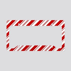 red christmas candy cane License Plate Holder
