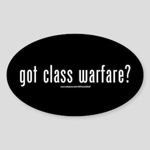 got class warfare? Sticker (Oval)
