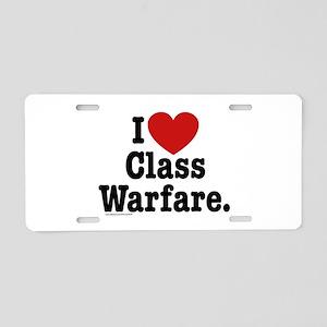 I Heart Class Warfare Aluminum License Plate