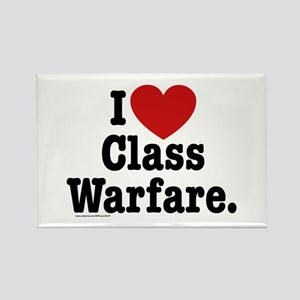 I Heart Class Warfare Rectangle Magnet