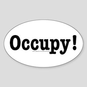 Occupy! Sticker (Oval)