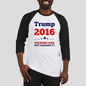 Trump Kicking Ass Baseball Jersey