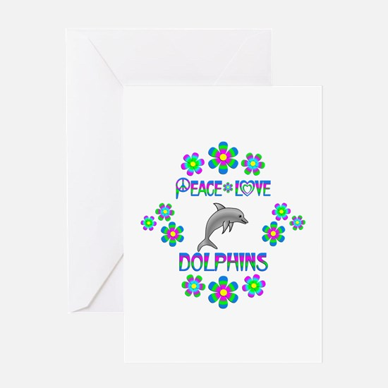 Peace Love Dolphins Greeting Card