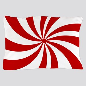 Xmas candy cane swirls Pillow Case